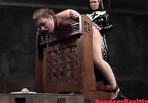 Femdom nun strapons submissive after flogging