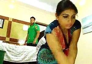 a maid fucked by her boss on the bed