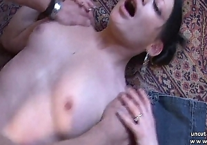 Pretty small titted french babe drilled hard like a dog with cum 2 brashness
