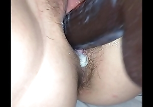 Irish wife creamy dildo fuck by English husband.