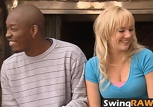 Rookie couple enjoys watching their pre-eminent swinger orgyabrina-1