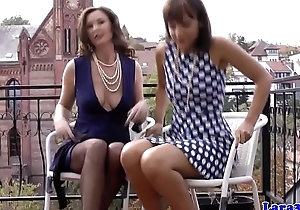 Classy british milf gets pearls with regard to her wet crack