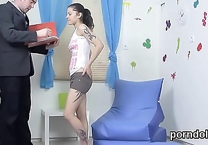 Sensual university generalized gets seduced and plowed apart from her elderly teacher