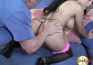 Beautiful tiny shaved asian cunt hard fucked boobs bouncing cum on facet