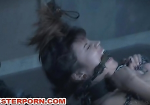 BDSM Slave Electro Yoga in Chains