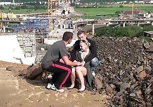 Young cute blonde teen cookie PUBLIC threesome at one's fingertips a construction web resource