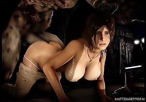 Lara gets fucked by a grand Monster