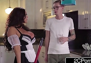 Nerdy Guy Discovers Asian Beauty August Taylor, a Busty New Jail-bait in his House