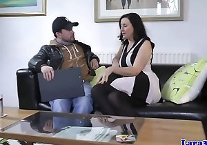 English milf doggystyled before cumshot