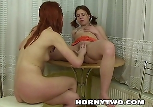 Fisting lesbo petite juvenile teen bitches getting horny wet pussies stretched wide