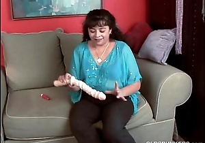 Cute chubby old spunker loves to drill her fat juicy pussy 4 U