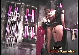 Three smoking hawt playgirls have some kinky fun in the oubliette