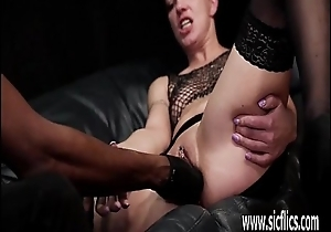Brutally fist fucked by will not hear of ebony BF till she squirts