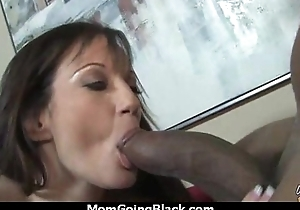 Sexy mom receives a creamy facial after getting pounded by a coloured ladies' 21