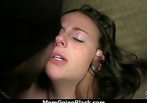 Sexy maw gets a creamy facial after getting pounded by a black man 24