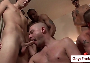 Bukkake Boys - Gay Hardcore Sex from www.GayzFacial.com 06