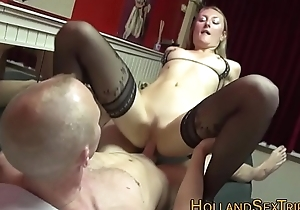 Amateur hooker group-fucked