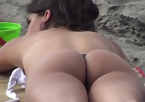 Girl with Amazing Butt on the Beach