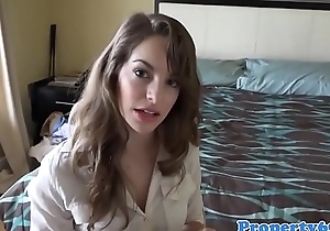 Realtor doggystyled in house before facial