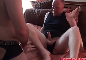Obese chubby bear assdrilling bottom