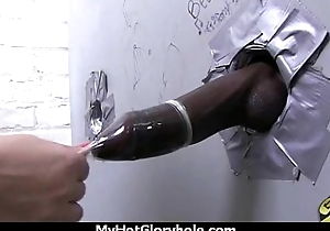 Hot couple having oral sex in gloryhole interracial 25