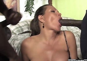 Teri Weigel takes four black cocks in front of say no to son