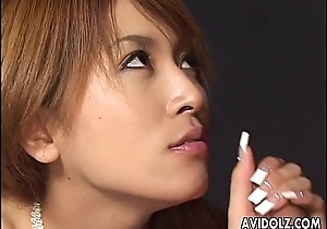 Luxurious loving Asian slut getting screwed doggy in verge upon