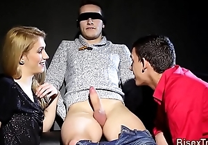 Cosset fucked by bisexual cock