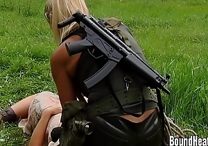 Lesbian Nimrod Caught Young Brunette In The Countryside