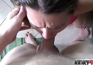 Hot milf spanking almost facial