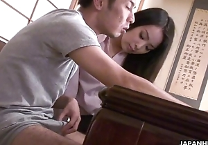 Sexy IT teacher getting fucked apart from the nerdy student