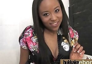 Hot malignant chick in interracial gangbang 13