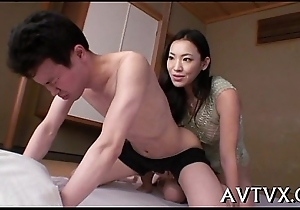 Stimulating oriental cowgirl riding
