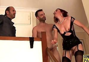 Clitpierced uk sub pounded in ass close by