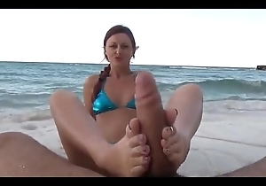 Footjob shiftless