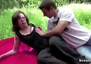 68yr old Granny Seduce to Fuck anal Outdoor by Foreign Boy